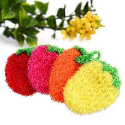 ?現貨館?速出貨❤️ 韓國 草莓洗碗布 韓國創意 手工刮花 可掛 菜瓜布 草莓 洗碗巾 沐浴巾