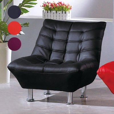 【在地人傢俱】20 幸福購-B09黑色/紅色/紫色皮單人沙發椅/休閒椅/房間椅 CS610-3