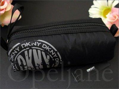 美國 DKNY MAKE UP CASE 名牌精品 鉛筆袋型 化妝包 手拿包 黑色防水尼龍 免運費