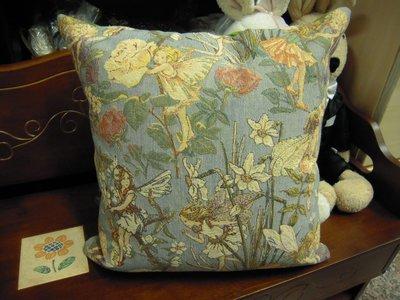 ~~亞米斯歐洲家飾~~比利時進口織錦花仙子抱枕~~居家/布置/擺飾/送禮