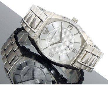 【EMPORIO ARMANI - AR 0345】100% 全新正品 時尚 不鏽鋼 名錶.手錶 / 白色 (防水50m) 【附原廠盒】