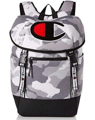 預購 美國帶回 Champion 大LOGO款 淺灰迷彩後背包 登山包 書包