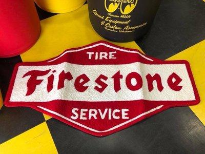 (I LOVE樂多)美國經典輪胎品牌 Firestone 地毯 地墊 止滑 吸水