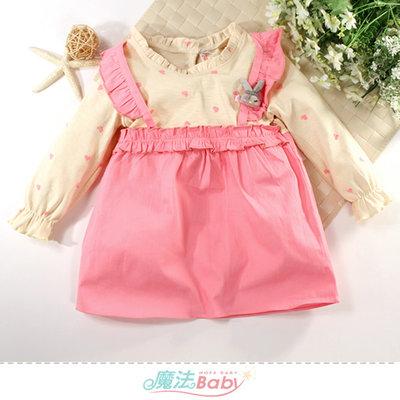 女童裝 秋冬款假兩件小洋裝 連身裙 魔法Baby k61176