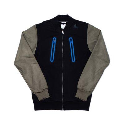【 WEARCOME 】ADIDAS BASEBALL JACKET 類皮袖拼接外套 雙拉鏈 內鋪棉/黑綠 台北市