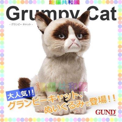 ※龍貓共和國※日本正版《GUND仿真擬真小貓咪 喵星人 寵物貓 Grumpy Cat 超柔軟絨毛娃娃 玩偶布偶》生日禮物