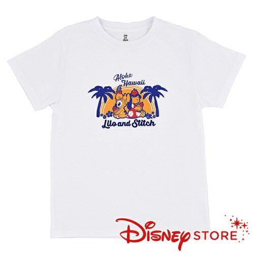 41+現貨不必等 正版 迪士尼專賣店 Hawaiian Stitch 史迪奇 莉蘿 醜丫頭 棉t 短袖上衣 小日尼三