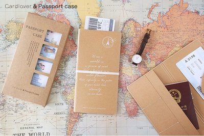 米塔手帳~Mita~~#273040~護照夾 ~ 復古郵戳 原色  收納整理 可放旅遊筆記本共用