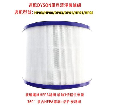 現貨!適配戴森Dyson風扇空氣清淨器 HEPA第二代濾芯濾網HP01/HP02/HP03/HP00/DP01/DP03