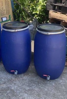 120公升塑膠桶加水龍頭 開蓋塑膠桶 儲水桶 酵素桶 化學桶