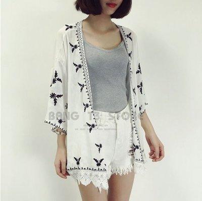 BANG◎薄款罩衫 黑白花紋圖騰 罩衫...