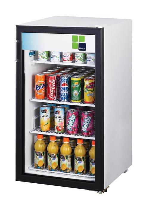 鑫忠廚房設備-餐飲設備:桌上型玻璃展示冰箱123L 賣場有-烤箱-水槽-咖啡機-西餐爐