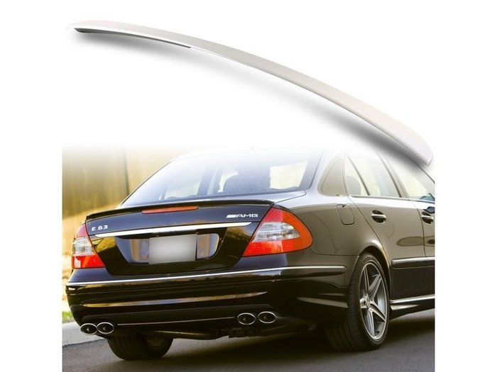 Mercedes Benz 賓士 E-Class W211 四門 03-09 A款 ABS尾翼 後擾流板 噴漆件