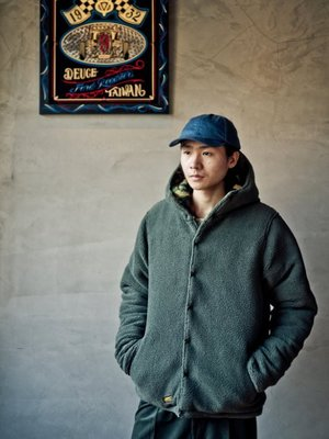 Provider 2018 F/W - Reversible Fleece Jacket 迷彩/軍綠色 雙面穿連帽外套