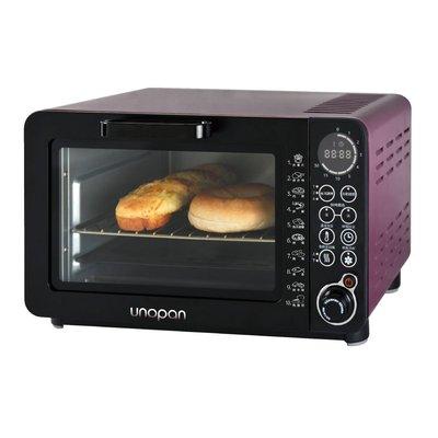 【無敵餐具】UNOPAN系列無油空氣油炸烤箱-紫色(14公升)熱旋風循環調理設計1台2用【SN-12】