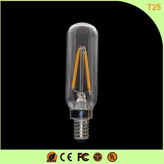 5Cgo【權宇】4W暖白光E14客廳燈E12 創意燈泡臥室節能照明愛迪生LED燈絲燈泡家用省電耐用110V T25含稅