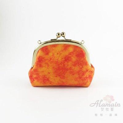 ❀Alamain❀橘色渲染_圓框口金包(中)_MFR000066