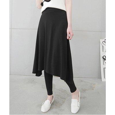 【Hao Da】全館399免運↘「M~XL。現貨」長裙假兩件內搭褲 (P1161)