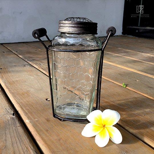 【曙muse】北歐風附架玻璃瓶單入組 牛奶瓶 插花瓶 簡約擺設 居家小物 loft 工業風 咖啡廳 民宿 餐廳 住家