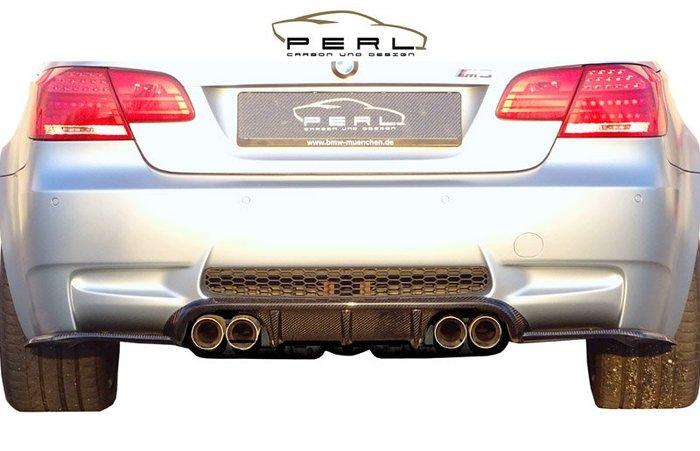 【樂駒】Perl Carbon Design BMW 3er E90 E92 E93 M3 碳纖維 後下擾流 後下巴
