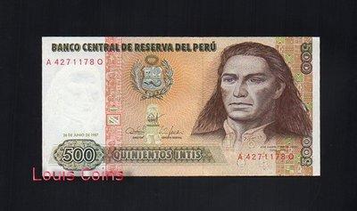 【Louis Coins】B127-PERU--1987祕魯紙幣500 Intis