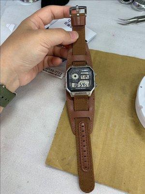 錶帶屋  18mm 20mm 22mm 24mm 尼龍帆布錶帶厚實鋼扣代用 精工 勞力士 MIDO Zenwatch2