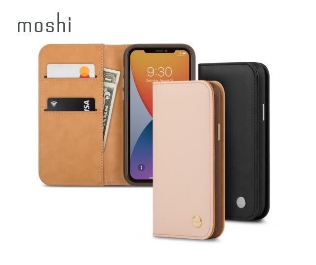 Moshi Overture for iPhone 12/12 Pro 磁吸可拆式卡夾型皮套