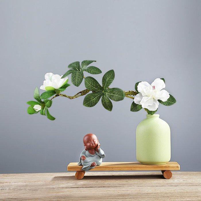 熱賣新中式花瓶插花小擺件 創意辦公室桌面飾品沙彌小和尚家居工藝品#擺件#陶瓷#北歐