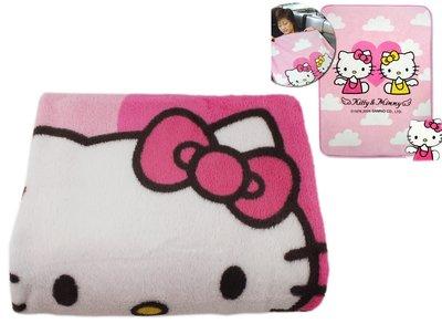 【卡漫迷】 出清 Hello Kitty 毯子 珍珠絨 ㊣版 台版 短毛 凱蒂貓 車用 冷氣毯 毛毯 薄毯 舒眠毯 兒童