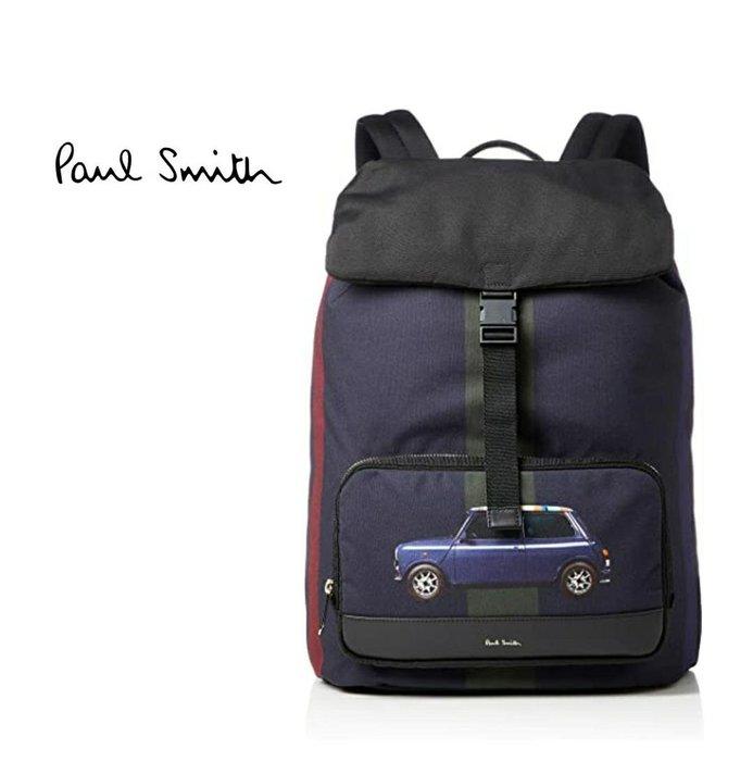 Paul Smith ► ( mini 車車 圖案 印花 )  防水尼龍後背包 中性款|100%全新正品|特價!