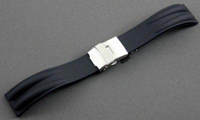 20mm雙股silicone高質感一次料矽膠錶帶替代原廠同規格部品citizen,seiko,oris