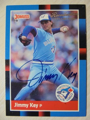Donruss Recollection Collection Auto 簽名 限量74張 Jimmy Key