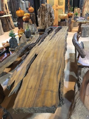 【 檜人檜語 】超自然風化 銀河系烏心石 原木板材1