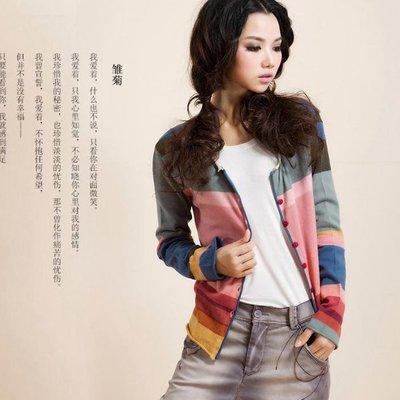 外套 - 秋款彩紅針織開衫外套款  #ZH0716049