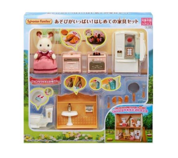 兔媽媽動趣家具組(森林家族-日版)