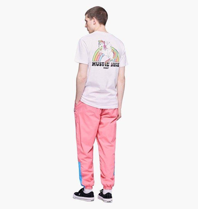 【Luxury】RIPNDIP My Little Nerm Tee 短袖 T恤 比中指的貓 彩虹馬 粉 白 韓國代購