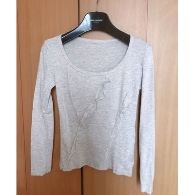 beautiful light begie grey cotton blouse top shop hollister cos h m特別款簡約米灰色長袖襯衫