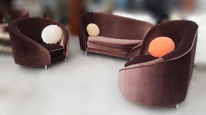 【宏品二手家具館】 台中全新中古家具拍賣A011610*咖啡色造型布沙發組* 客廳桌椅 電視櫃 書櫃酒櫃 新北板橋樹林