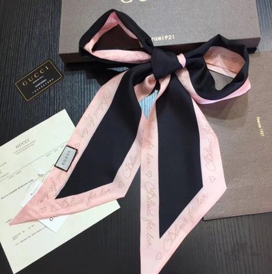 gucci blind for love scarf 絲巾 髮帶