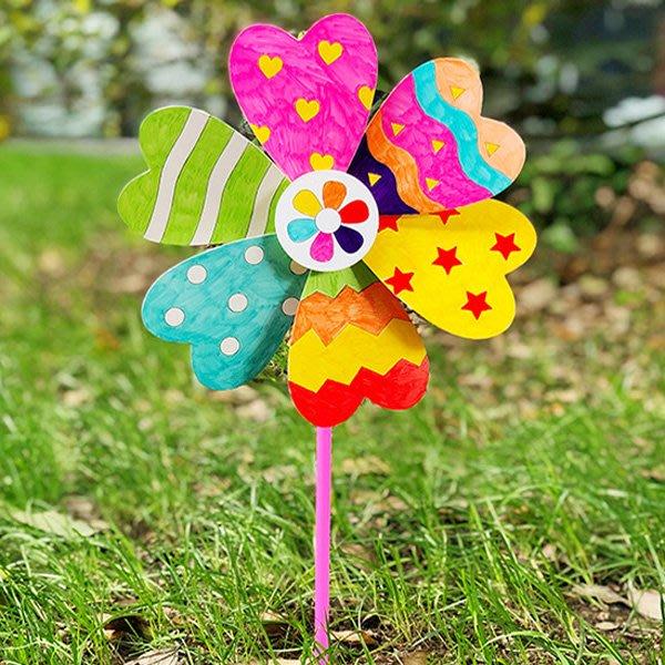 兒童手工DIY繪畫塗鴉風車材料包【JC3771】《Jami Honey》