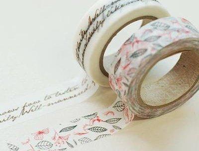 *YOOWOO*【韓國 Decorate YOUR item 多功能裝飾 15mm 和紙膠帶 貼紙 ~ Runa 浪漫露娜】一組2入