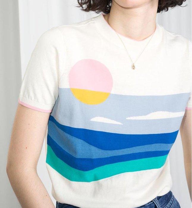 天絲混紡薄彈性針織衫 1125   米蘭風情