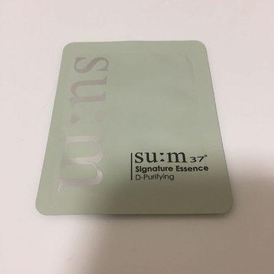new TOMTIT 韓國 代購 SU:M37° 甦秘 淨化精華 D-purify 粉綠色 3ml 現貨
