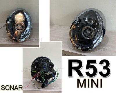 JY MOTOR 車身套件`- MINI R53 R50 R52 COOPER MINI ONE 黑框 R8燈眉 大燈