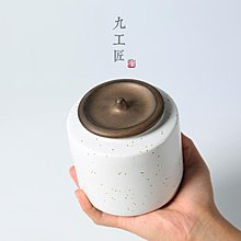 店長推薦陶瓷大中號家用茶葉罐 骨瓷功夫茶具普洱茶倉醒茶罐儲物罐