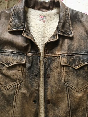 LVC Levi's vintage clothing leather jacket 復古經典皮外套