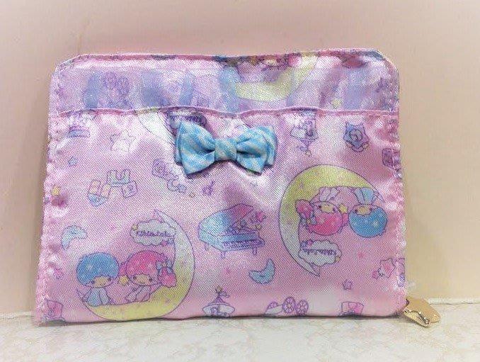 《東京家族》粉 蕾絲 雙子星 面紙包/衛生棉包/零錢包