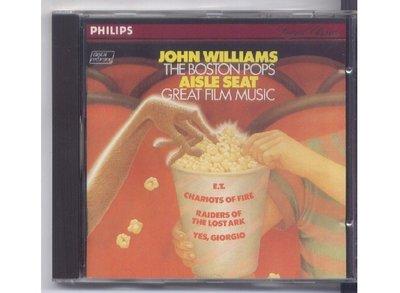 Aisle Seat.The Boston Pops.John Williams 1982法國銀圈盤
