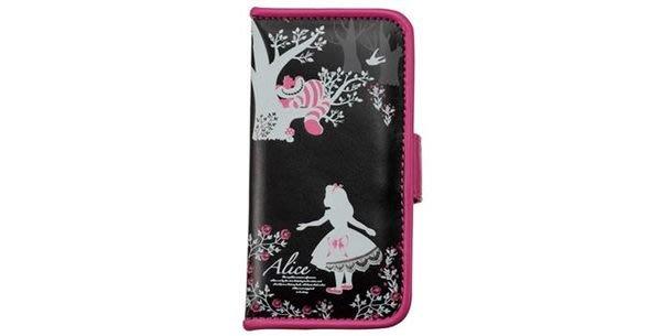 尼德斯Nydus~* 日本正版 Disney 迪士尼 愛麗絲 翻頁式 手機殼 保護殼 iphone5 5S 5C 內附小鏡子