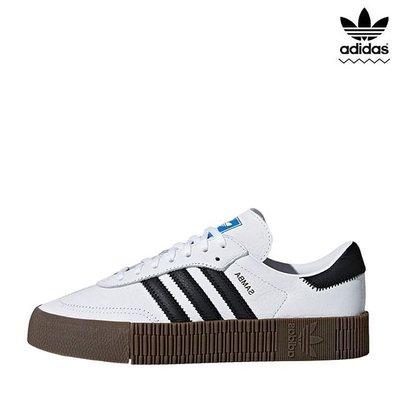 [韓國新品連線] Adidas Originals Samba Rose AQ1134 白色 皮革 焦糖底 餅乾鞋 厚底